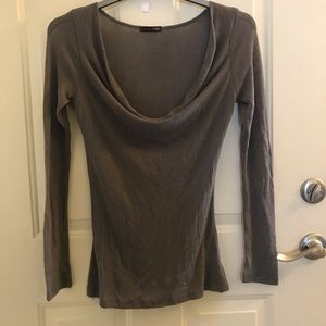 Tops - Swooped Neck Blouse